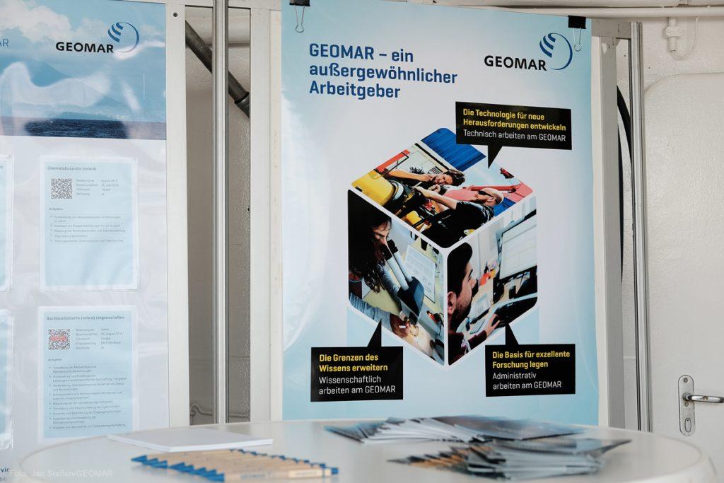 Technik, Wissenschaft und Administration - die drei großen Arbeitsbereiche am GEOMAR. Photo: Jan Steffen / GEOMAR