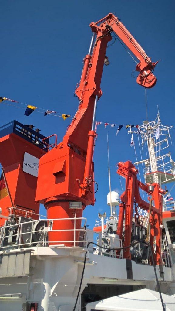 So ein Forschungsschiff benötigt eine besondere Ausstattung. Photo: Jill Alina Koenig