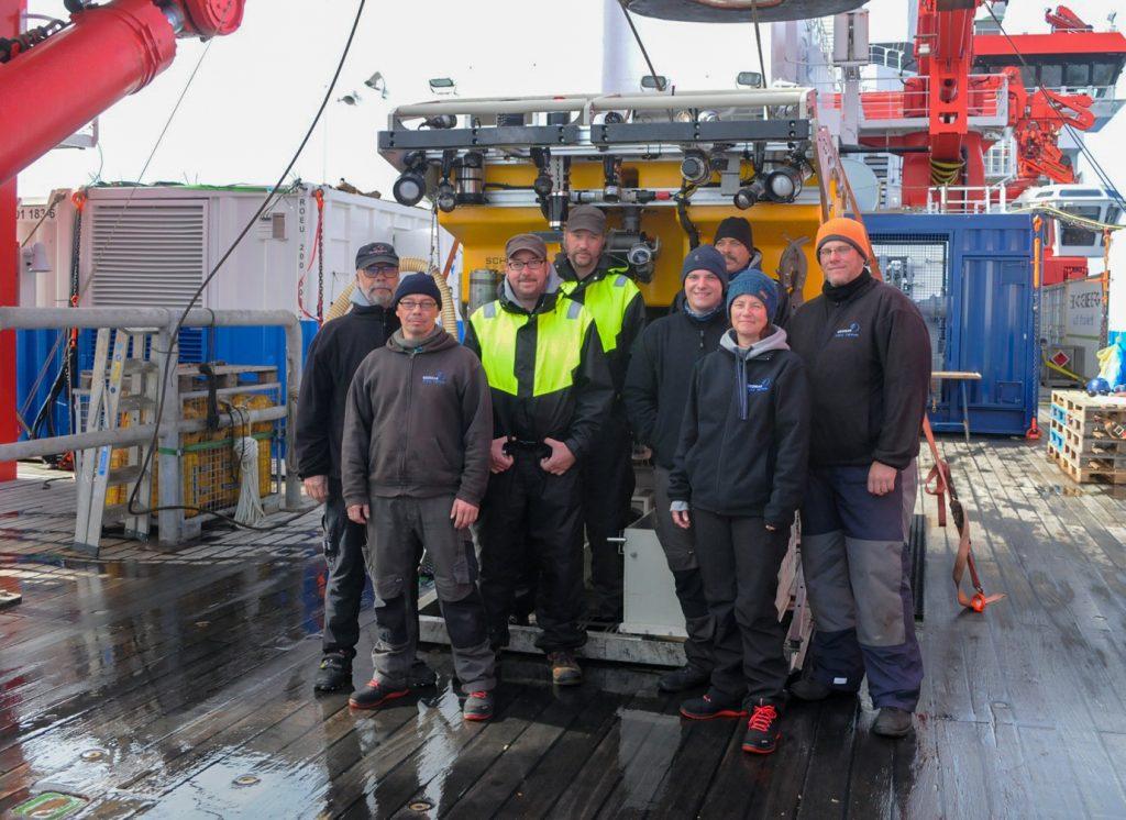 Das GEOMAR-ROV-Team. Foto: Mia Schuhmacher/GEOMAR
