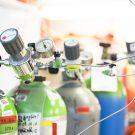 Gasbottle in the wet lab. Gasflaschen im Nasslabor. (Credit: Lisa Hoffmann, CC BY-NC-ND)