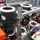 Two of the sensors mounted on the MPI lander: Photo: Allison Schaap