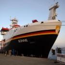 Vor der ersten wissenschaftlichen Reise stellte sich die SONNE in Wilhelmshaven, Bremen, Hamburg, Warnemünde und in Kiel (Foto) vor. Foto: J. Steffen, GEOMAR