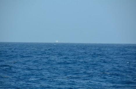 "Heute! Das erste Schiff das wir ""sehen"" / Today! The first time we see another ship. ©Thomas Walter"