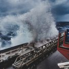 During the first week, the cruise experienced some rough weather. Photo: Thomas Ronge, editing: Steffen Niemann